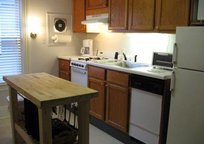 kitchen at Rutgers House apartment