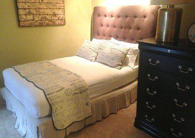second bedroom at Rutgers House loft